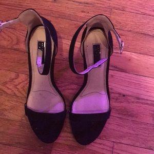 Top Shop Ankle strap heels (matte black) 7.5